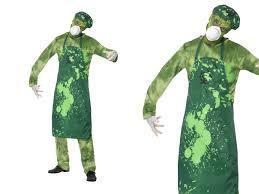 Mens Doctor Halloween Costume Mediecal Crazy Doctor Scientist Halloween Fancy Dress Costume