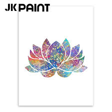 buddha lotus canvas art print poster wall pictures for home