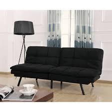 Leather Futon Sofa Mainstays Memory Foam Futon Multiple Colors Walmart Com