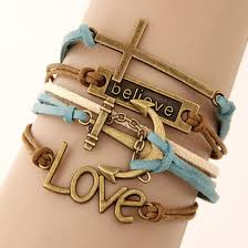 cross bracelet leather images Jewels charm bracelet leather bracelet leather rope bracelet jpg
