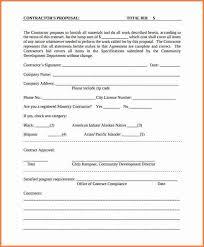 contractor proposal template bid proposal 8 contractor proposal