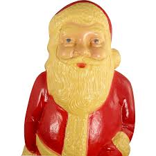 vintage union products santa claus plastic lighted blow mold