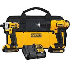 wedding registry power tools dewalt dck240c2 20v lithium drill driver impact combo kit 1 3ah