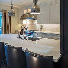 kitchen islands with columns linear kitchen island design ideas