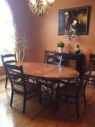 Copper Dining Room Tables Copper 44 X 77 Oval Dining Table With Arvada Base Oval Dining