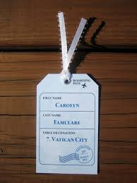themed luggage tags place card card luggage tag destination wedding