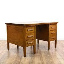 1940s Desk 1940s Petite Oak 6 Drawer Typewriter Desk Loveseat Vintage