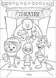 chicken friends theater coloring pages