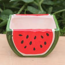 amazon com ceramic watermelon shape flower planter pot patio