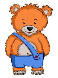 imagenes animadas oso oso del personaje de dibujos animados ilustración del vector