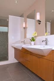 Shallow Bathroom Cabinet Shallow Bathroom Vanity Contemporary With Ceiling Lighting