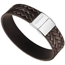 bracelet cuir homme images Bracelet homme en cuir marron tress jpg