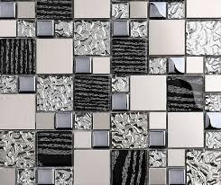 metal wall tiles kitchen backsplash silver metal mosaic stainless steel tile kitchen backsplash wall