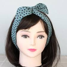 top knot headband denim blue headband headband woman top knot headband cotton