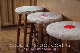 Bar Chair Covers Easy Stool Covers Free Crochet Pattern Mamacheemamachee