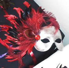 custom masquerade masks custom silver with and black feathers mask the costume shop