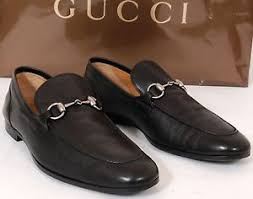 gucci black leather horsebit loafers dress shoes men 9 5 d us made