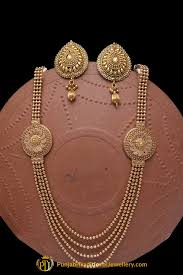 antique gold necklace images Golden jodha antique gold necklace set by punjabi traditional jpg