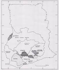 Map Of Eastern States by Map Of Ghana Showing The Major Auriferous Akan States Source