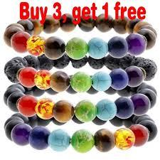 crystal stone bracelet images 7 chakra bracelet natural yoga healing lava stone crystal reiki jpg