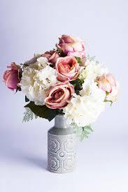 Fake Peonies Silk Peonies And Hydrangea In Vase Stock Photo Image 57664581
