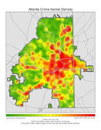 Map Of Atlanta City Of Atlanta Crime Density In 2013 1700x2200 Oc Mapporn