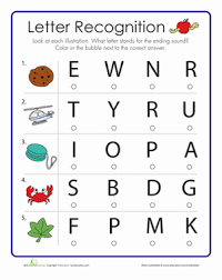 ideas of beginning and ending sounds worksheets 1st grade with