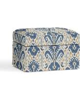 Ikat Storage Ottoman Shopping Season Is Upon Us Get This Deal On Slate Blue