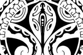 polynesian mask and gecko tribal tattoo