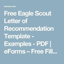 beautiful eagle scout letter of recommendation contemporary