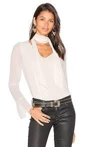 scarf blouse line dot rima scarf blouse in revolve