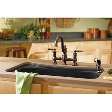 Moen Waterhill Kitchen Faucet Moen S713 Waterhill Chrome Two Handle With Sidespray Kitchen