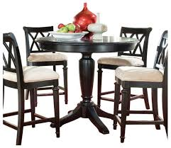 american drew dining table american drew camden dark round counter height table in black