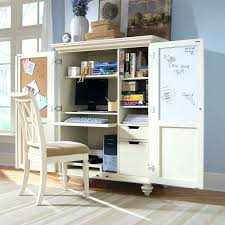 Computer Desk Armoires White Armoire Desk Perfectgreenlawn