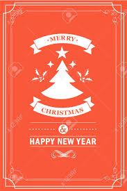 christmas party invitation retro typography and design decoration