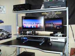 Best Computer Desk Design Perfect Black Gaming Computer Desk Plans Woodworking Ideas R On