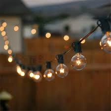 patio lights g40 globe string light warm white