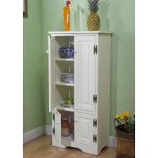 kitchen cabinet tall pantry red svelte chic pine wood cupboard