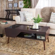 Pop Up Coffee Table Furniture Mid Century Modern Wood Pop Up Coffee Table