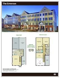 Stacked Townhouse Floor Plans by The Emerson At Darley Green Townhomes In Delaware
