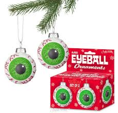 eyeball tree ornaments set of 2 by accoutrements