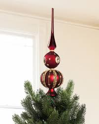 burgundy and gold tree topper balsam hill