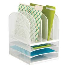 White Desk Organizer Safco Onyx Mesh Desk Organizer 3 Horizontal And 5 Vertical