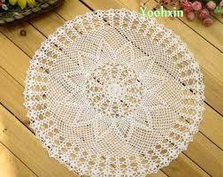napperon de cuisine 60 cm moderne dentelle coton table ronde napperon ton de tissu