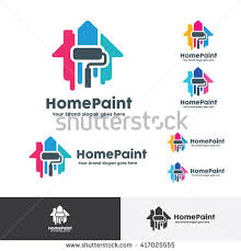 Home Decoration Logo House Paint Logo Home Decoration Company Stock Vector 417025555