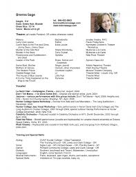 Actor Resume Sample Examples Of Special Skills For Acting Resume Talent Resume