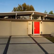 Eichler Style Exterior Art For Eichler Homes With Concrete Patio Flooring And
