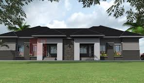 nigerian residential architecture bedroom semi detached bungalow