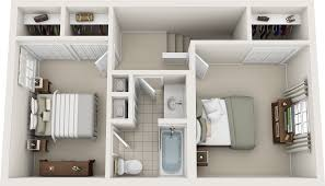 Simple 2 Bedroom House Plans by Two Bedroom Floor Plans Charleston Hall Apartments