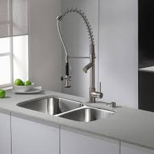 top pull kitchen faucets faucet delta foundations single handle pull out sprayer kitchen in